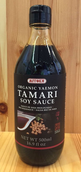 傳統有機無麥麩頂級醬油 Organic Yaemon wheat-free Tamari (500ml)