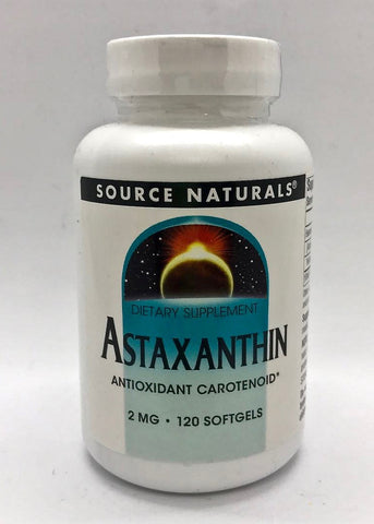 蝦紅素植物配方 Source Naturals Astaxanthin 2mg (120 softgels)