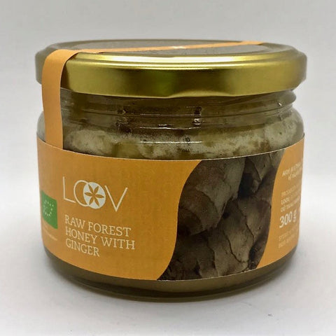 Loov 有機薑粉混合森林原生蜂蜜 Organic Raw Forest Honey with Ginger (300g)