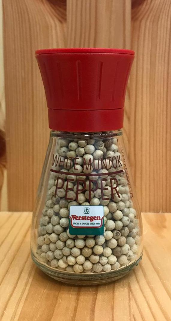 即磨原粒白胡椒 White Peppercorns with grinder (48g)