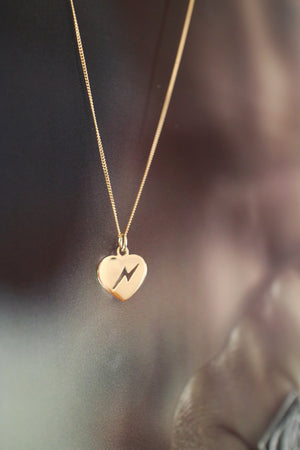 Gold 'Love Struck' Necklace