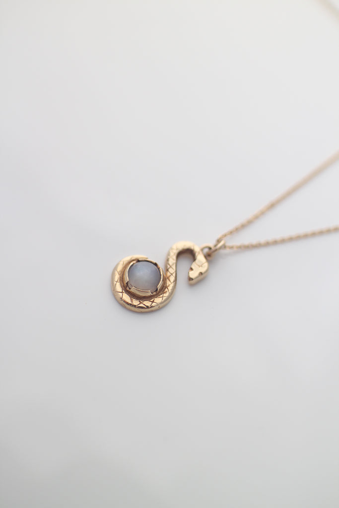 Gold Snake Keeper Necklace
