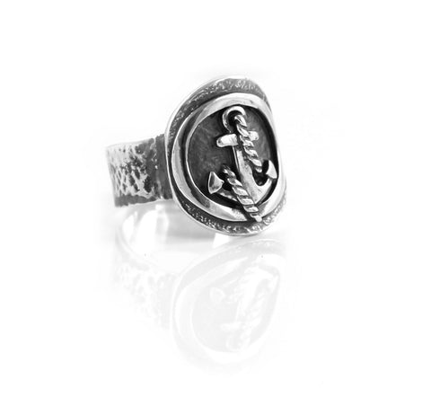 Anchor Shield Ring