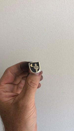 "Two Tone Cactus ""Nightfall"" Signet Ring"