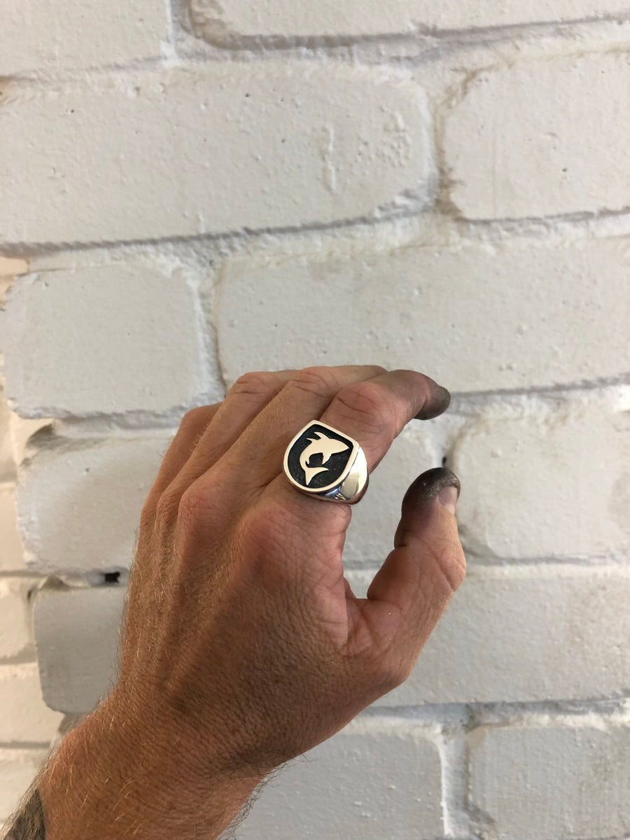 Shark Signet Ring