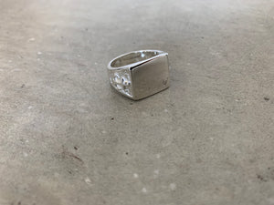 Flat Top Ring- Square with Anchors