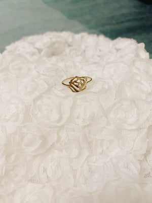 Gold Rosebud Ring