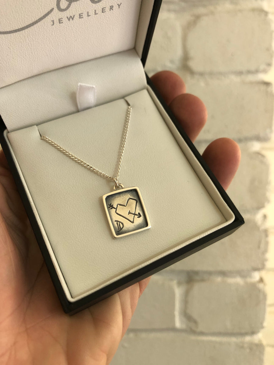 Ready to ship- Framed Necklace with Engraving