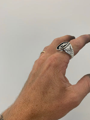 Shark Signet Ring - size U ( 10 1/4 US )