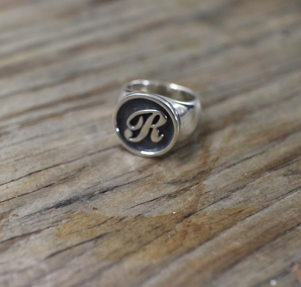 Single Initial Signet Ring