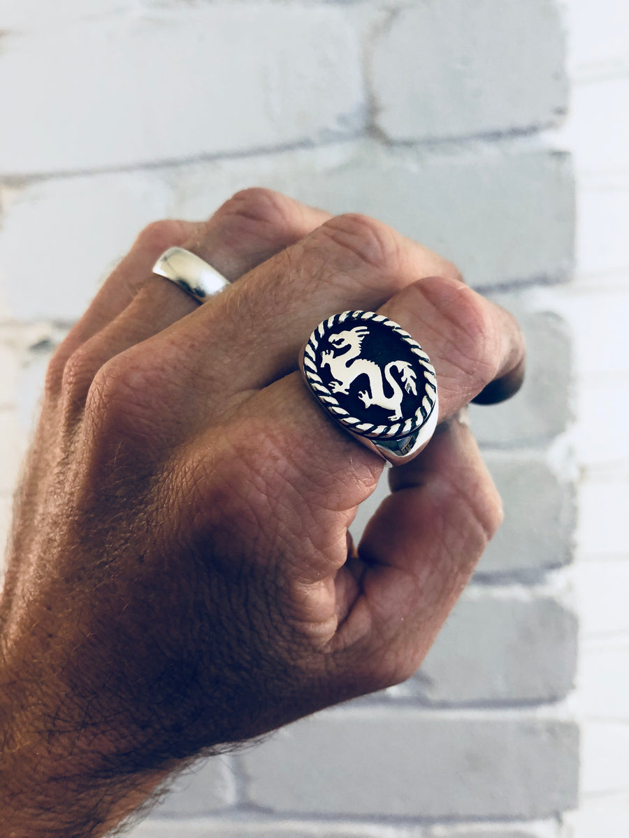 Lucky Dragon Signet Ring