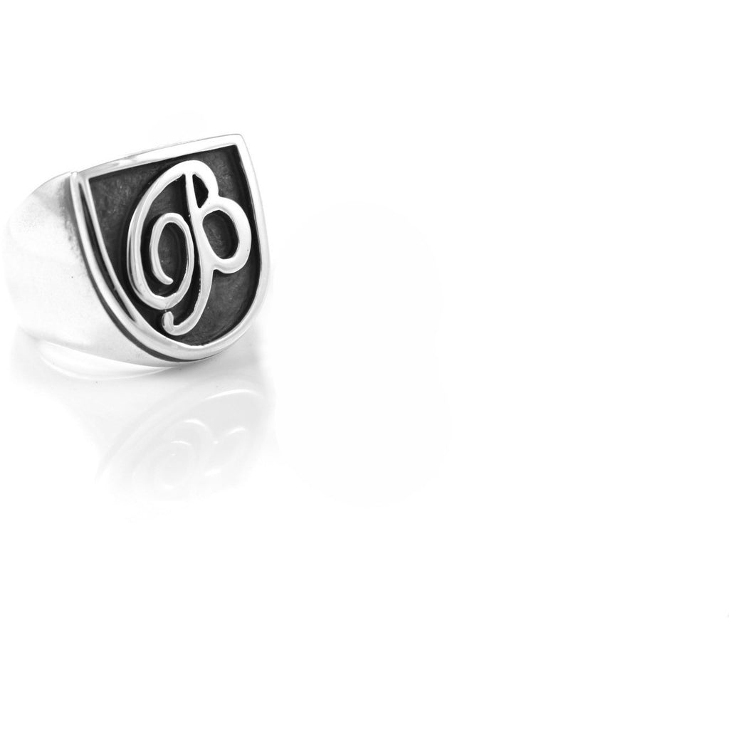 Single Initial Signet Ring - Cort Jewellery sterling silver jewellery