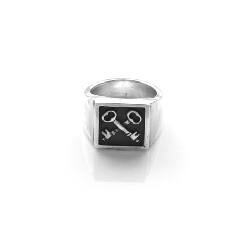 Keys Signet Ring