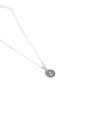 Stamped Initial Necklace