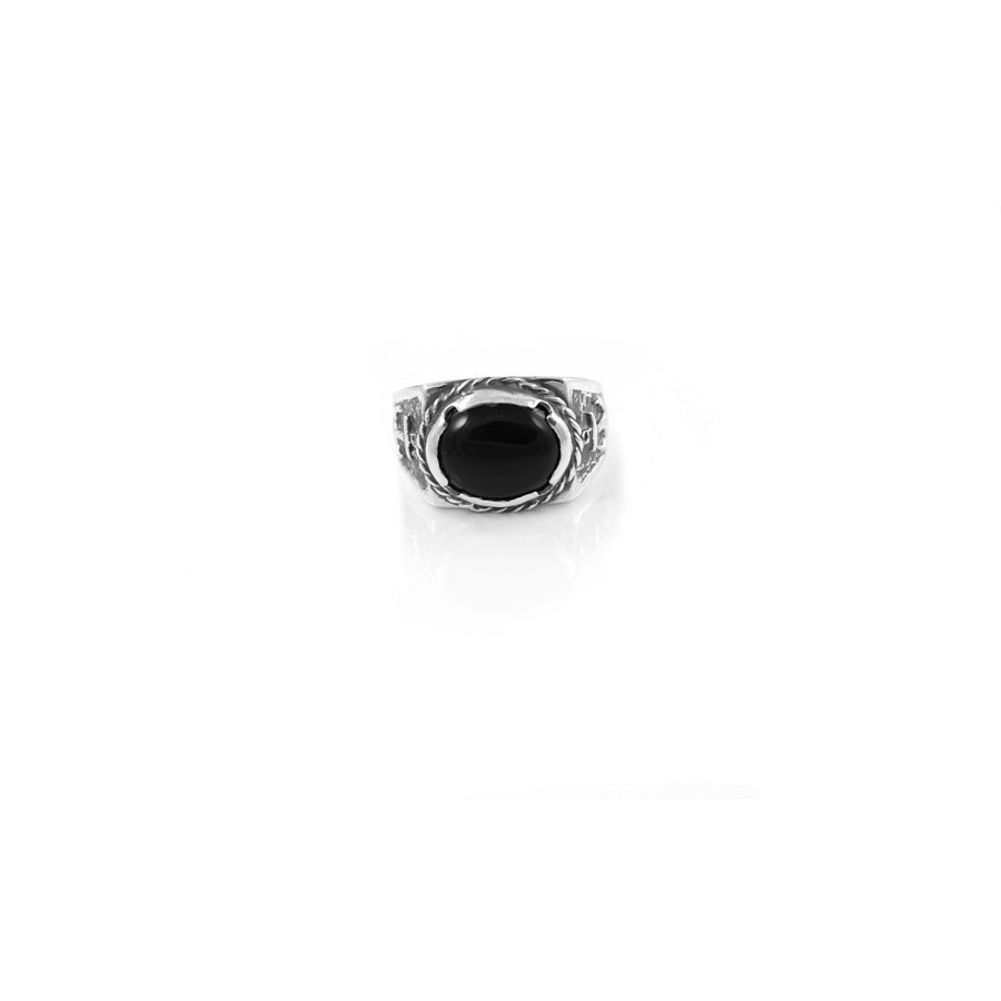Traditional Onyx Signet Ring