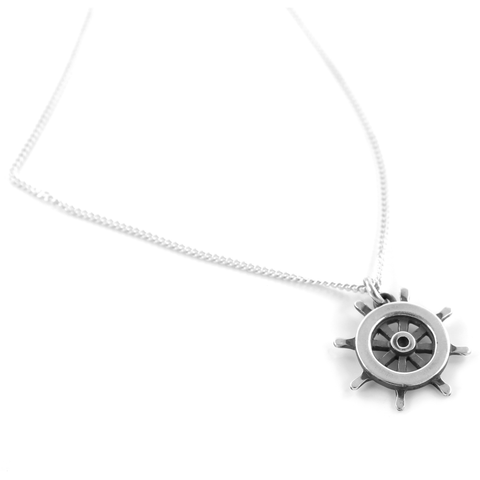 Ship Wheel Necklace - Cort Jewellery sterling silver jewellery