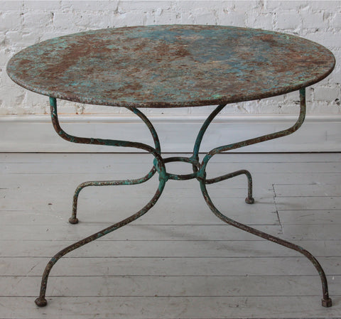 c19th French Iron table