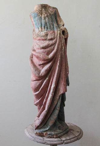 c17th carved wooden figure.