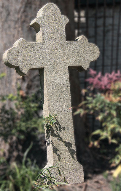 c19th French stone cross