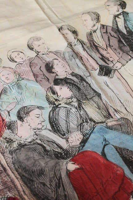 Court Scene printed on Cotton 118 x 91 cms