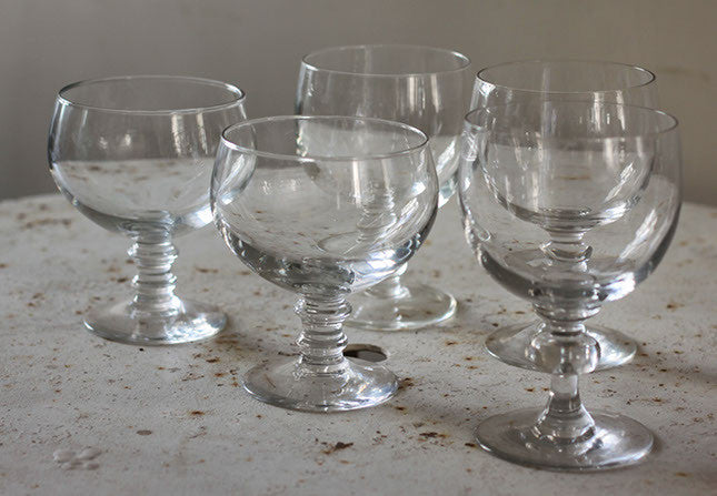 Five Large c19th glasses.