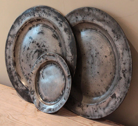 Selection of c18th pewter plates