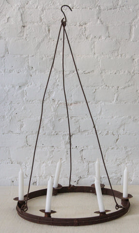 Iron hanging Candle Chandeliers