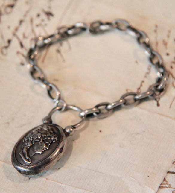 Silver chain Bracelet with Locket
