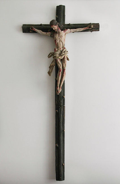 c18th German crucifix
