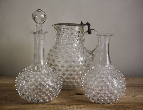 Selection of c19th bobble glass ware.