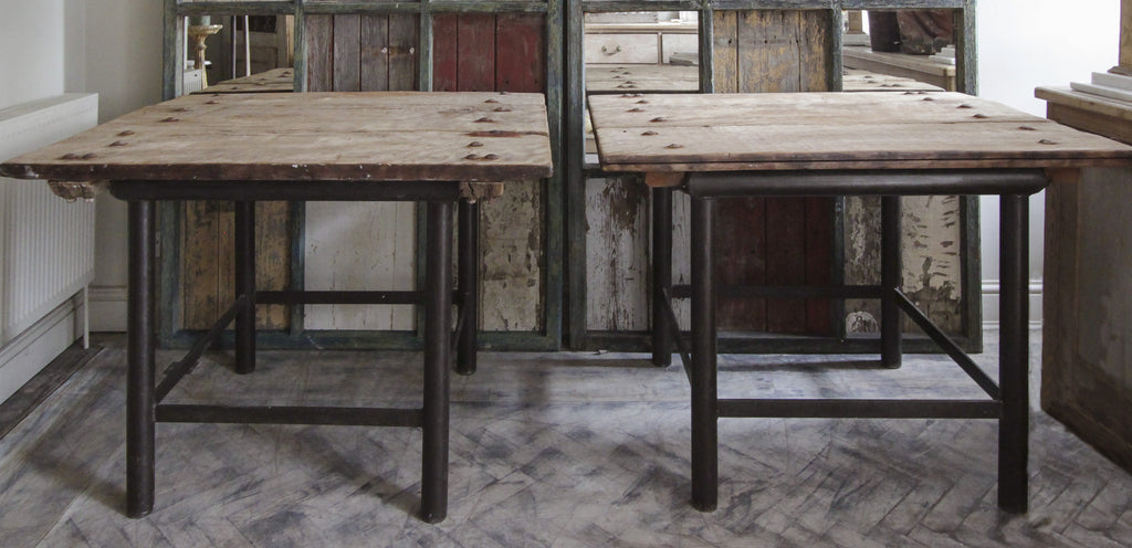 2 Chunky Industrial tables