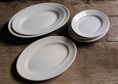 Collection of oval platters.