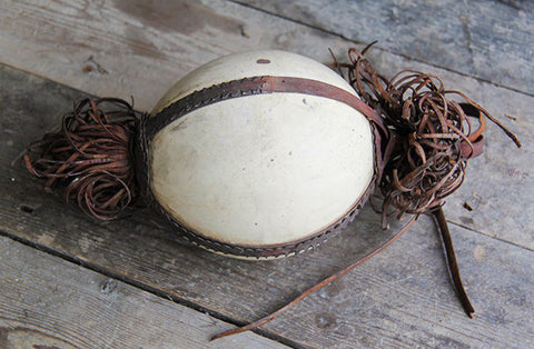 Leather embellished ostrich egg