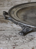 c19th Heated Pewter Serving Platter