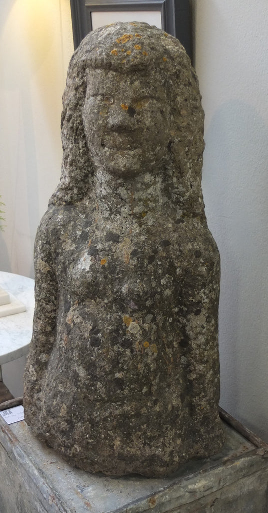 c20th Polish carved stone statue