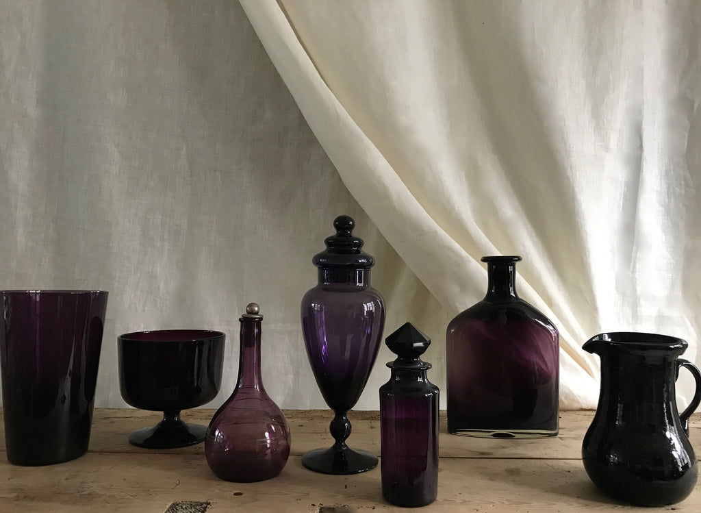 Collection of purple glass