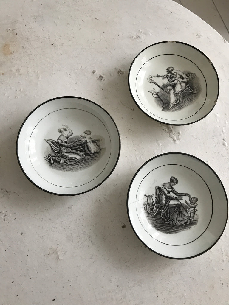 3 small porcelain bowls