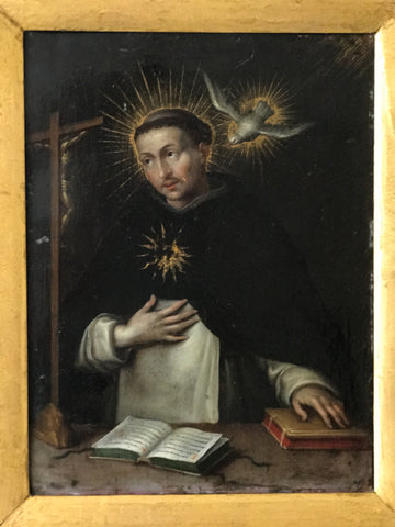 c17th Oil on Board of St.Domonic