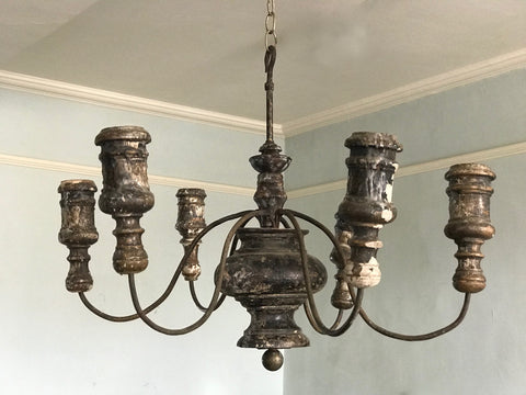 Wood & Iron Chandelier