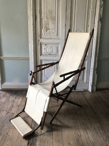 French fruit wood reclining chair