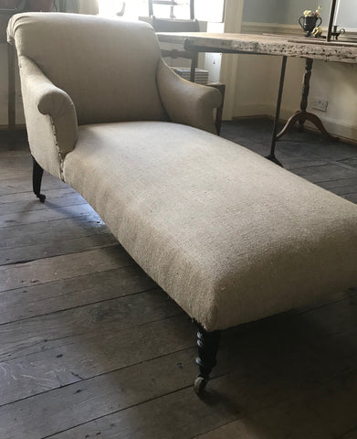 c19th French Chaise Longue