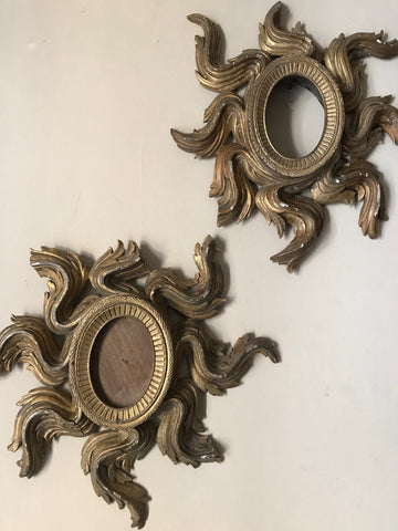 Pair of Gilt Wood Starburst Frames