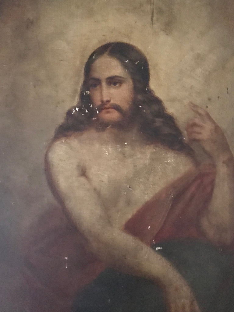 Oil on board of Christ