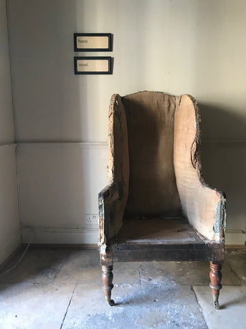 c17th English Wing Back Armchair