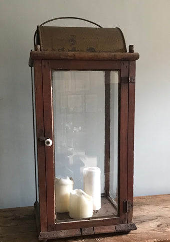 large glazed rustic lantern