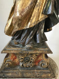 c18th Carved polychrome & gilded Bishop