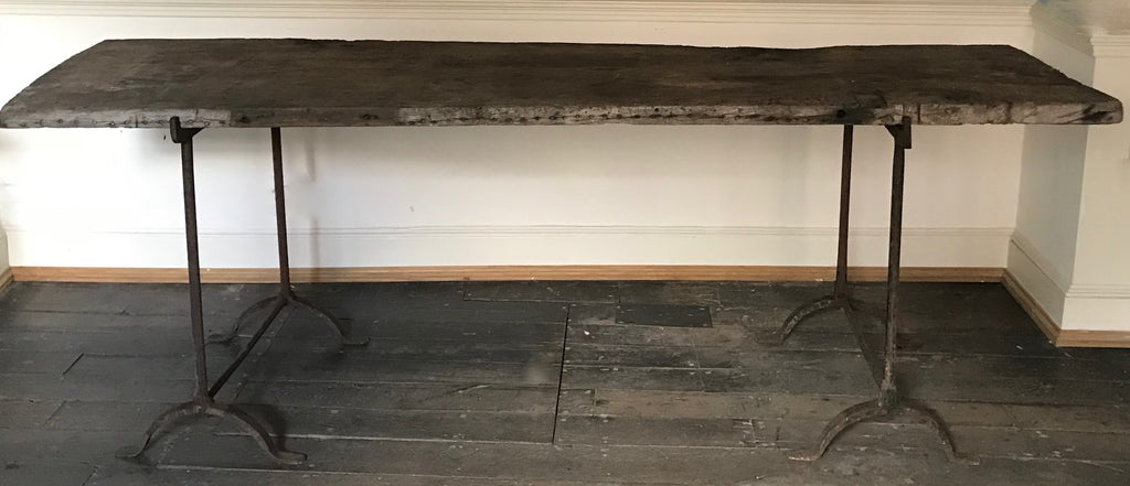 Console table - Single plank of c18th Oak
