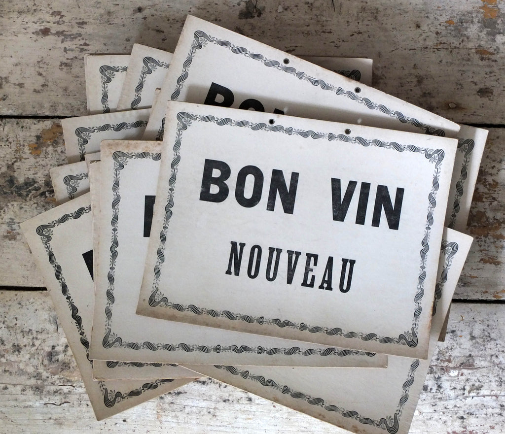 Bon Vin printed cards