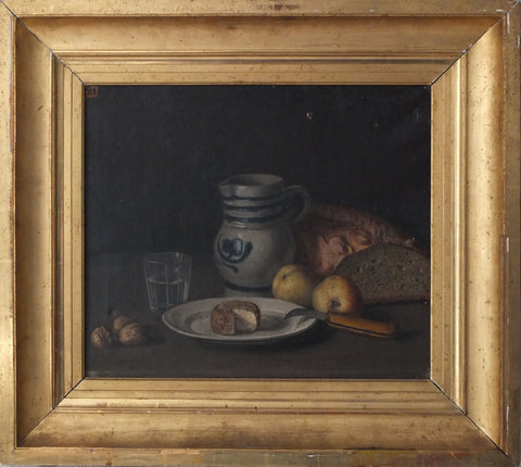 c19th French still life on canvas in a deep gilt frame painting