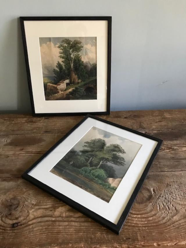 Pair Framed Watercolours